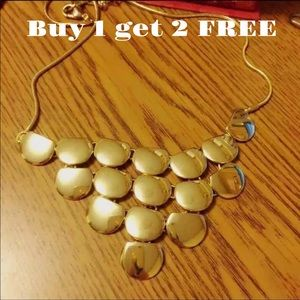 Jewelry - Statement gold plated necklace neck41